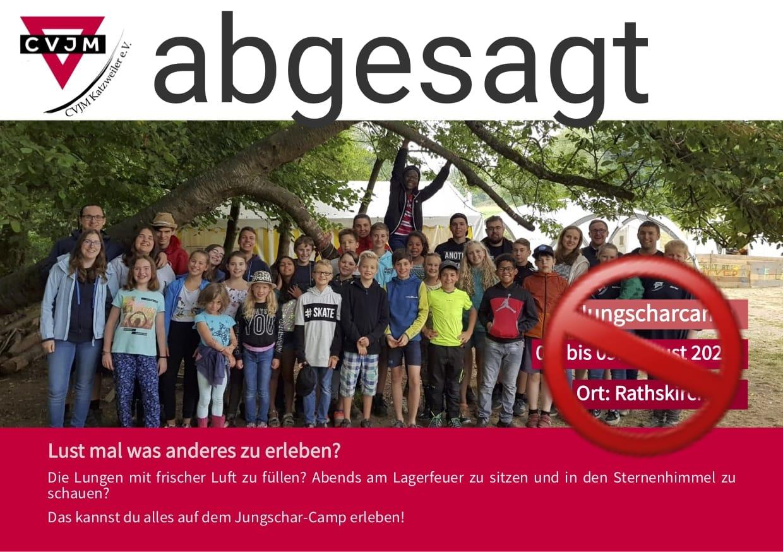 Jungscharcamp abgesagt – es finden aber alternativ Tagesprogramme statt